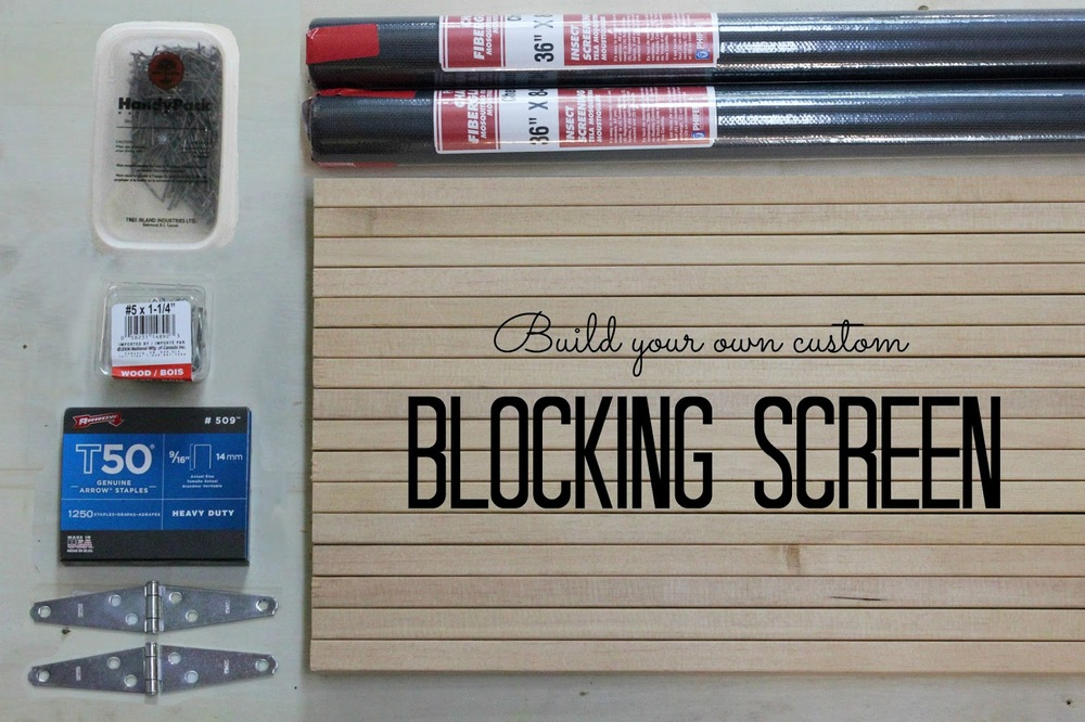 build your own custom blocking screen by jane richmond