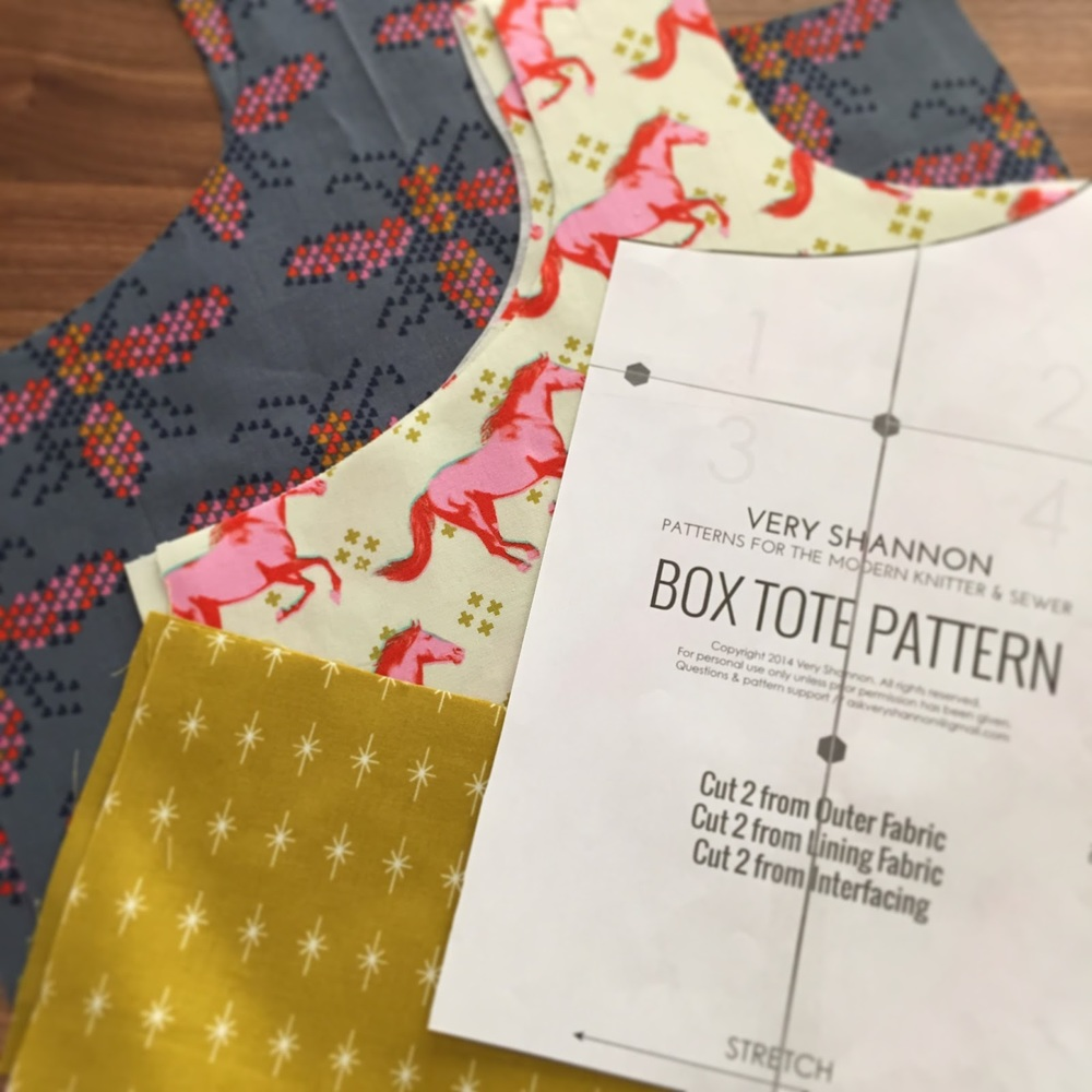 Reversible Box Tote Pattern by Very Shannon