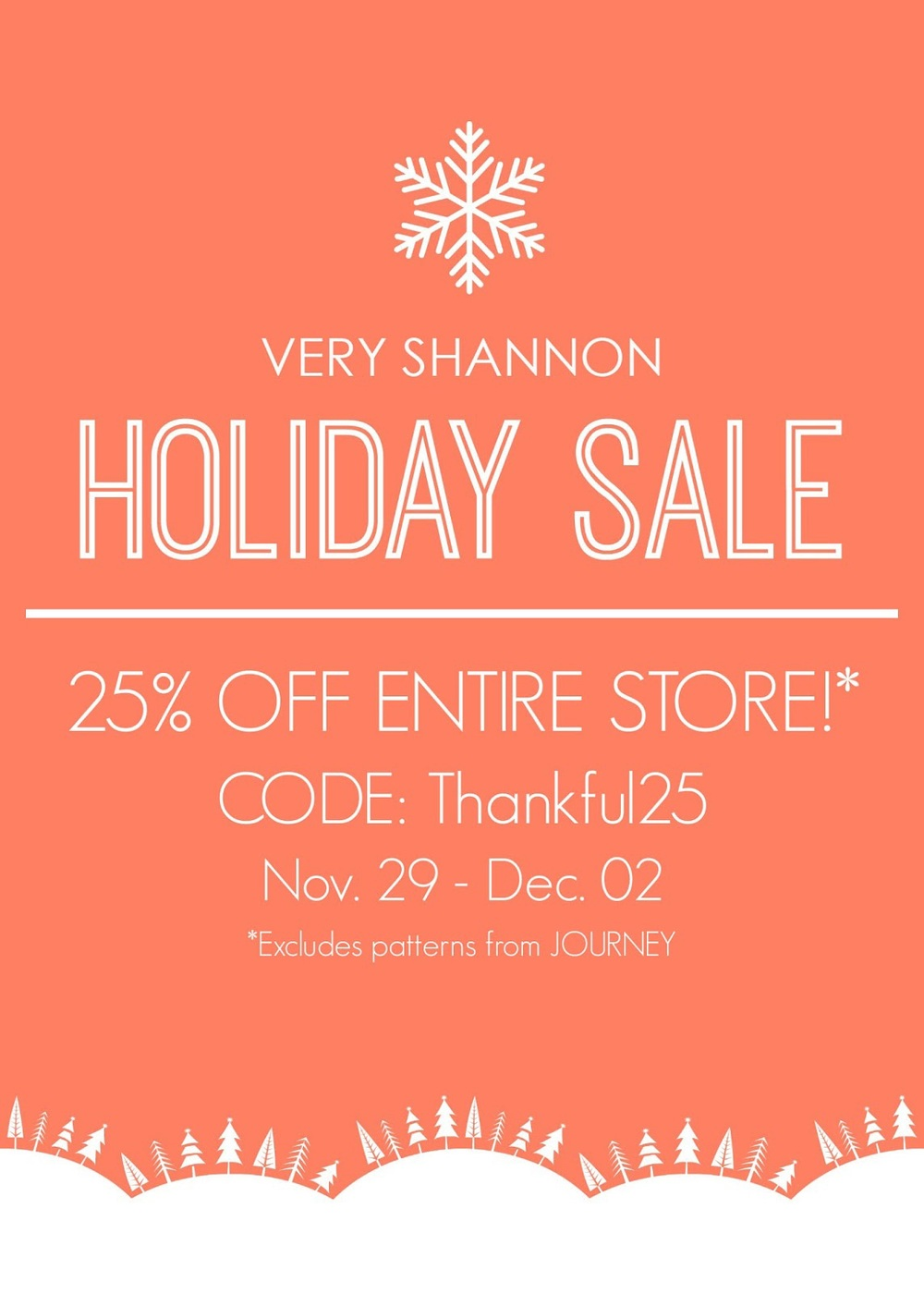 Very Shannon Holiday Sale || 25% off entire store!