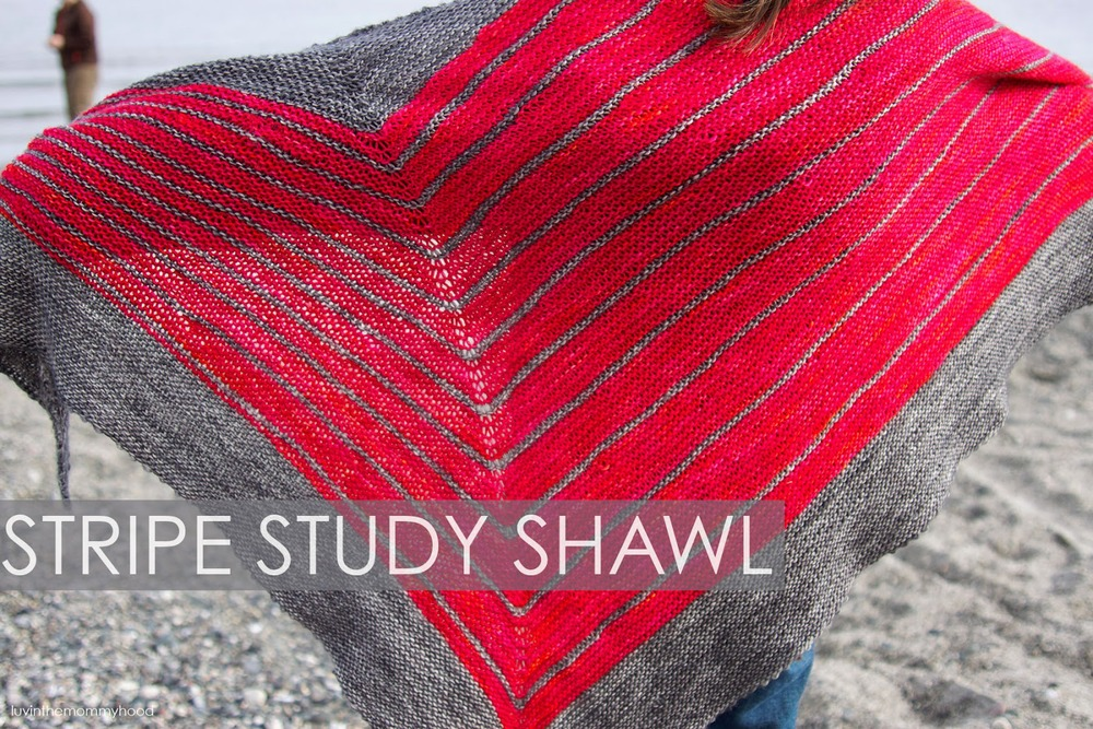 Stripe Study Shawl on luvinthemommyhood.com Pattern by Veera Valimaki
