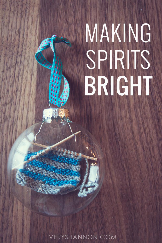 Handmade Knitting Ornament || VeryShannon.com