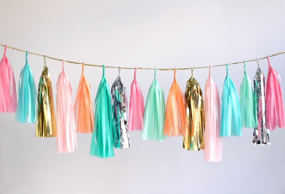 tassel garland from confetti system shop
