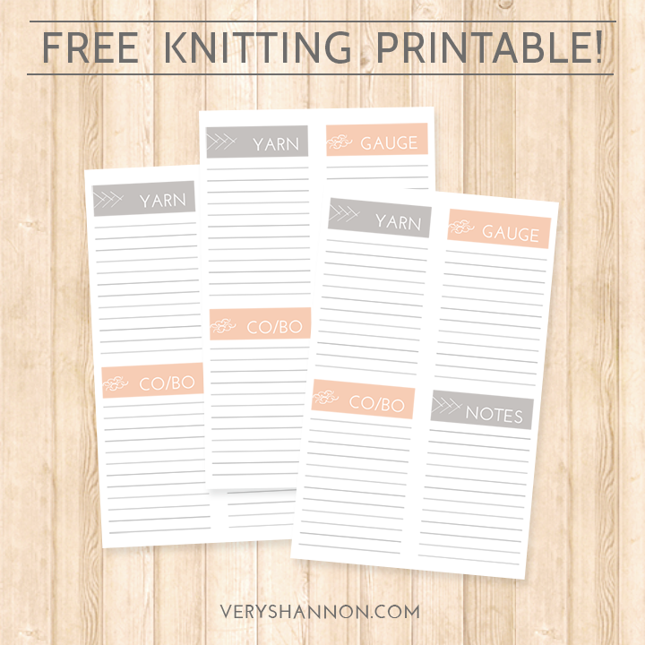 Free Knitting Printable from Tops, Tanks & Tees Knit Along || VeryShannon.com #tttkal