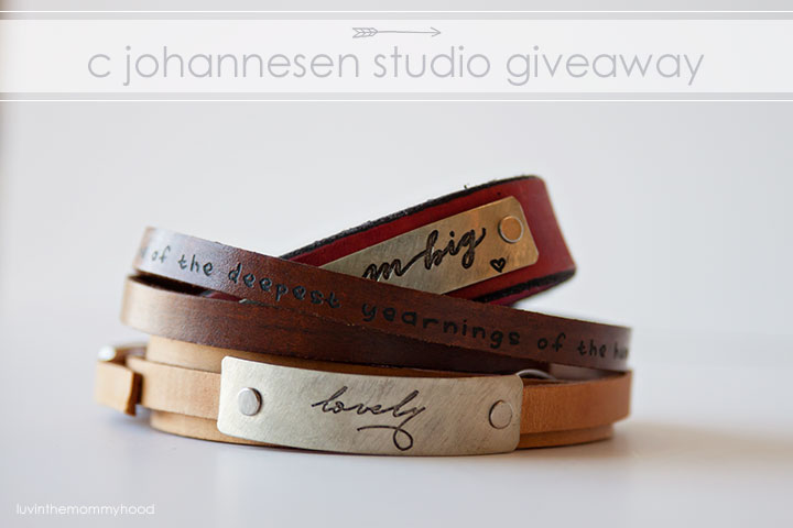 C. Johannesen Studio Leather Jewelry Giveaway