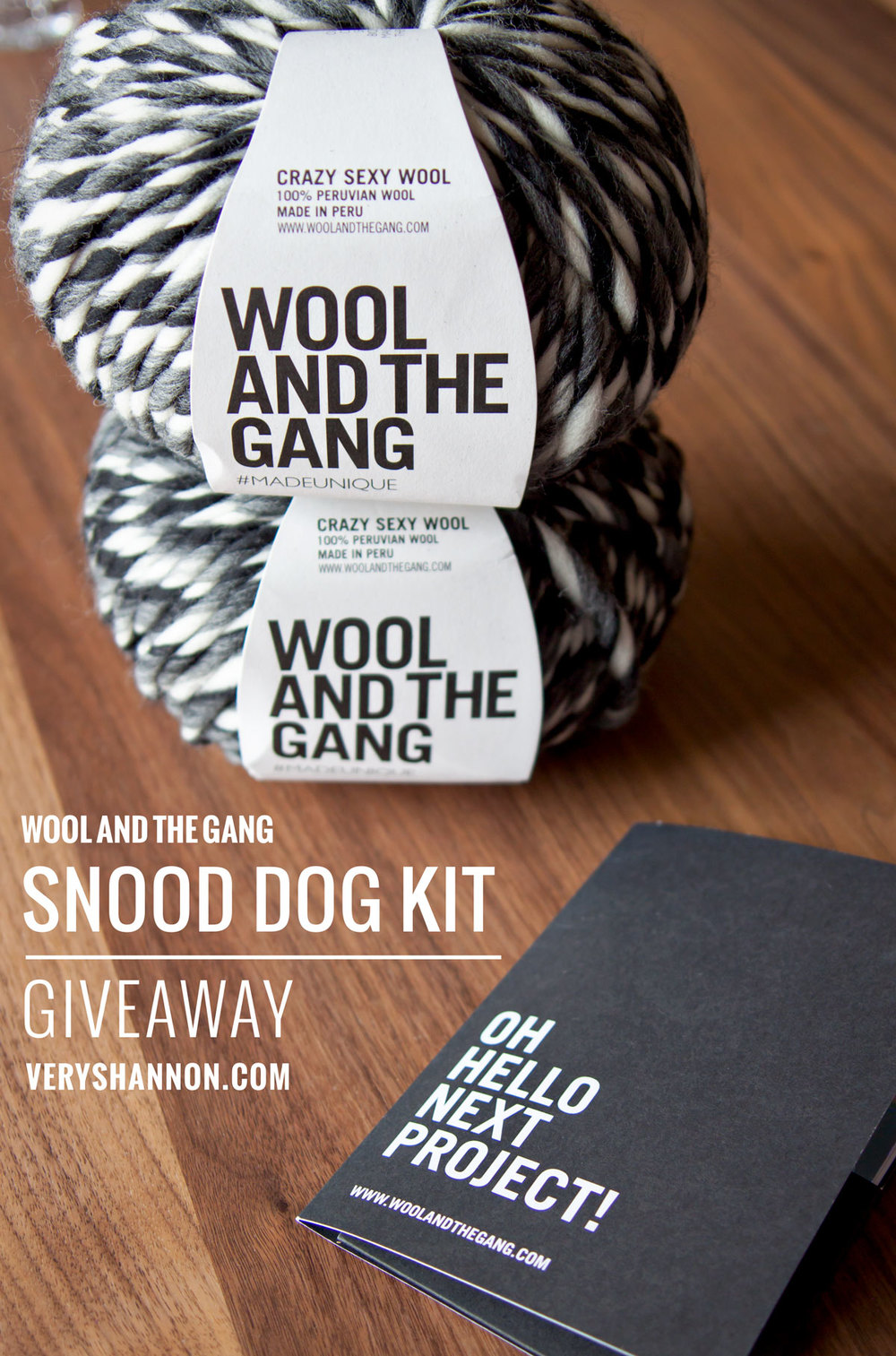 GIVEAWAY WOOL AND THE GANG YARN & PATTERN SNOOD DOG KIT ...