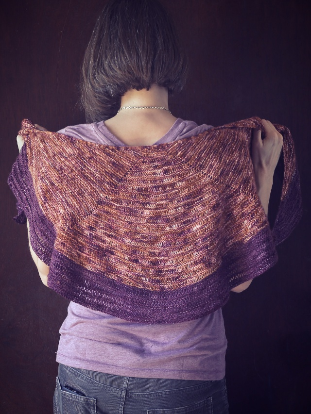 LAYLOW SHAWL by Shannon Cook, knit by My So Called Handmade Life