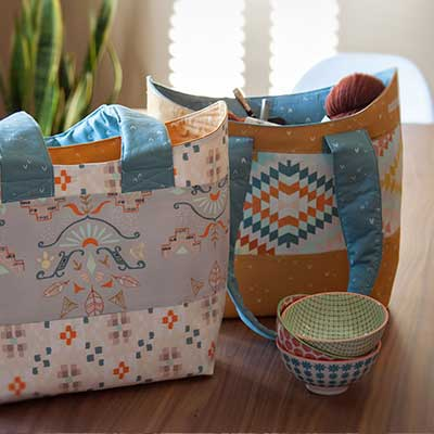 FREE Bucket Basket Tote Sewing Pattern