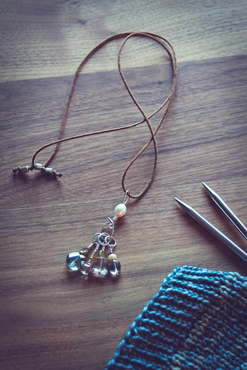 Wool and Wire Stitch Marker Necklace Review on VeryShannon.com