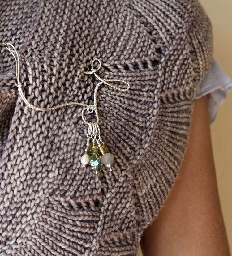Wool & Wire Stitch Marker Shawl Pin