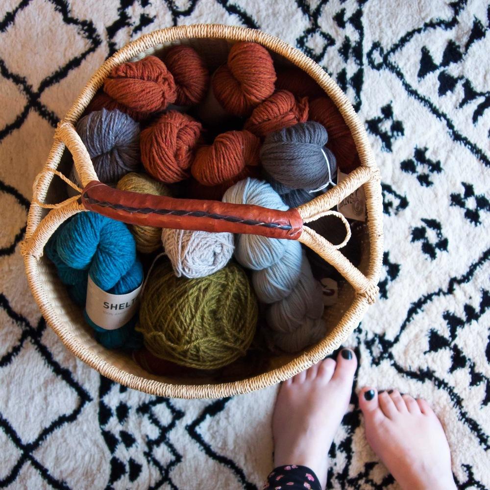 yarn basket on VeryShannon.com