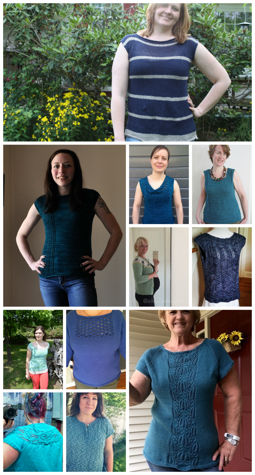 Tops, Tanks & Tees Collage - Blues #tttkal #tttkal16