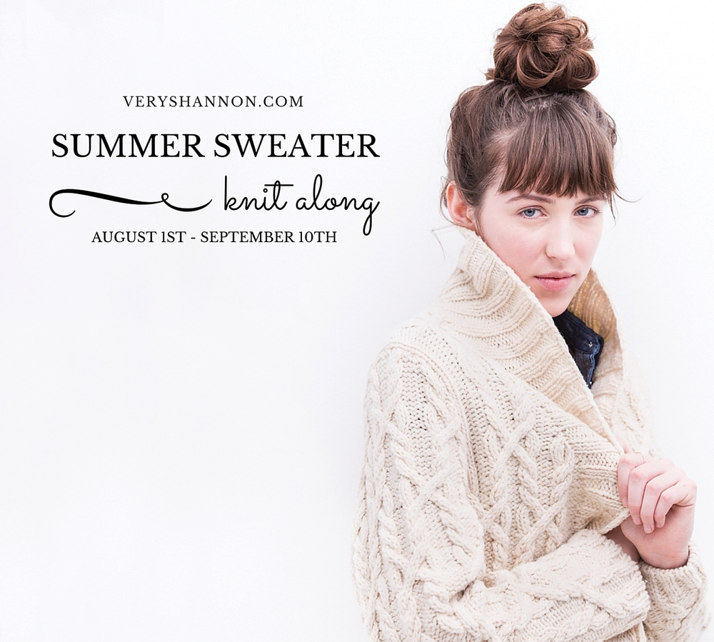 Summer Sweater Knit Along on VeryShannon.com 2016 #sskal #sskal16