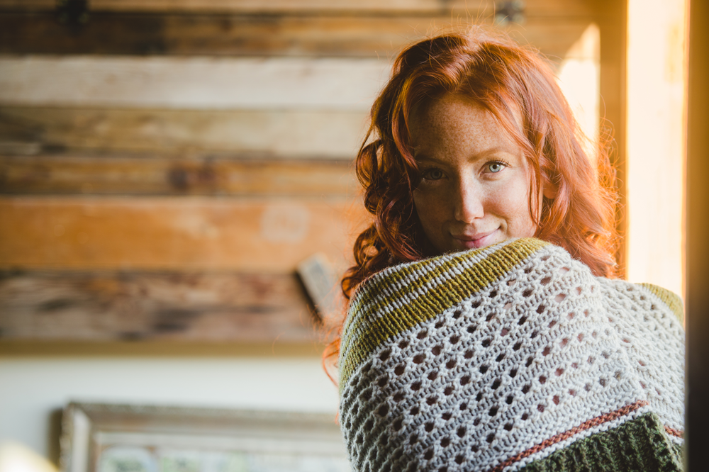 Hudson Shawl by Shannon Cook from book Within. #withinknits #hudsonshawl