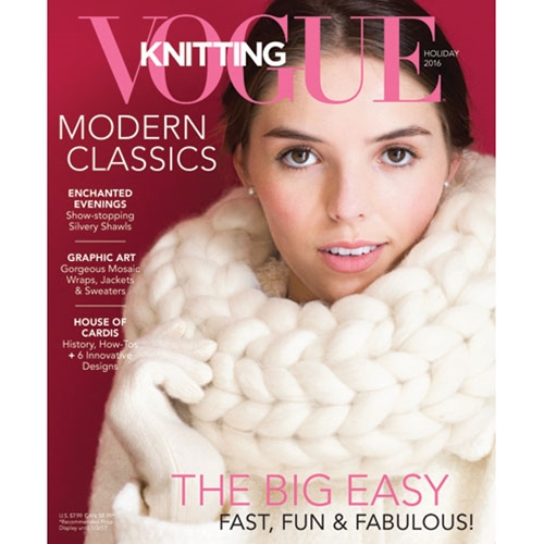 November 2016 issue Vogue Knitting Holiday