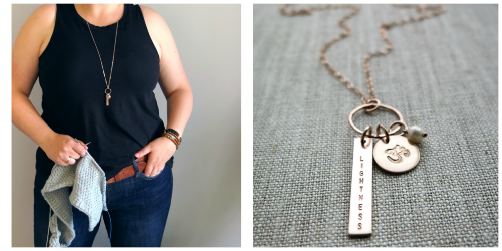 Custom Word of the Year Necklace by   Betsy Farmer Designs