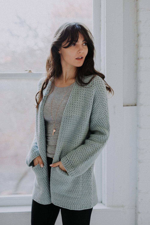 8739ae0dd Kapsel Cardigan PDF Knitting Pattern — VERY SHANNON
