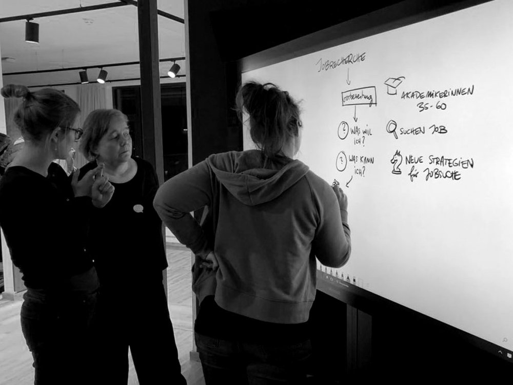 Capturing the discussion from the very start. Photo by Nadine Roßa.