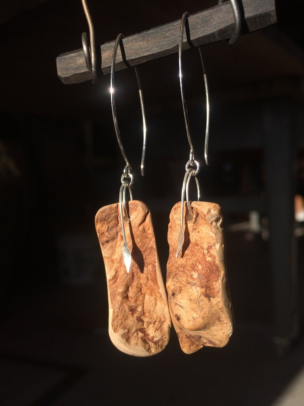 Maple Burl Earrings
