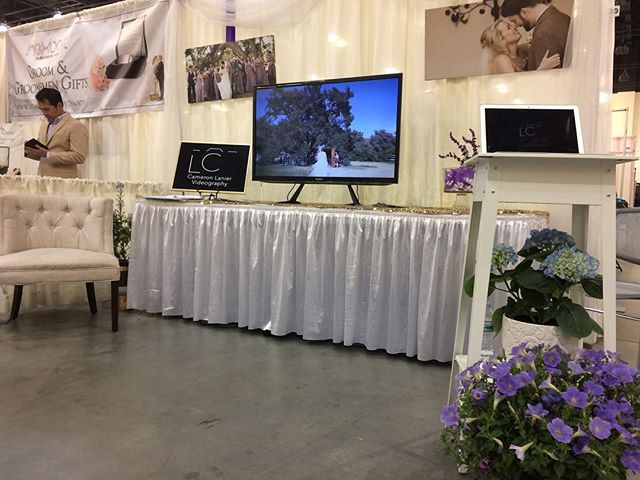 #bridalworldexpo happening today in Pasadena. It's our first one. Wish us luck! #weddingvideography #weddingvideo