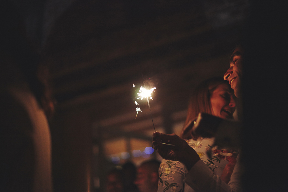 Sparklers | Barn Wedding | Abbey Hall Suffolk | Sara Lynd | Alternative Documentary Wedding Photographer London
