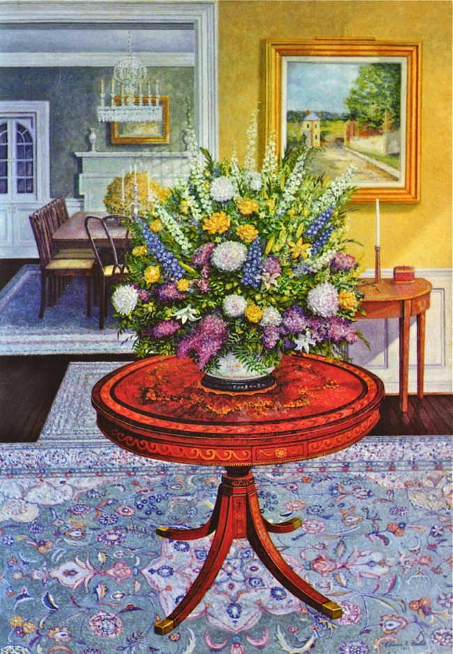 Flowers in the Foyer by William R. Beebe