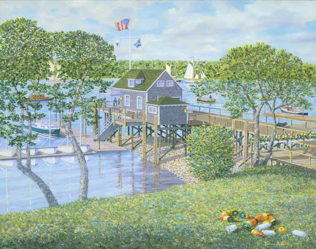 North Haven Yacht Club by William R. Beebe, Artist's collection