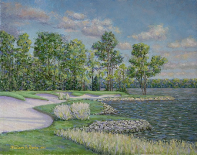 The 16th Green at Two Rivers Country Club by William R. Beebe