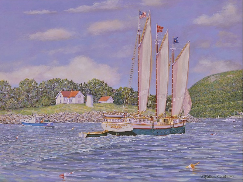 Commissioned painting by William R. Beebe