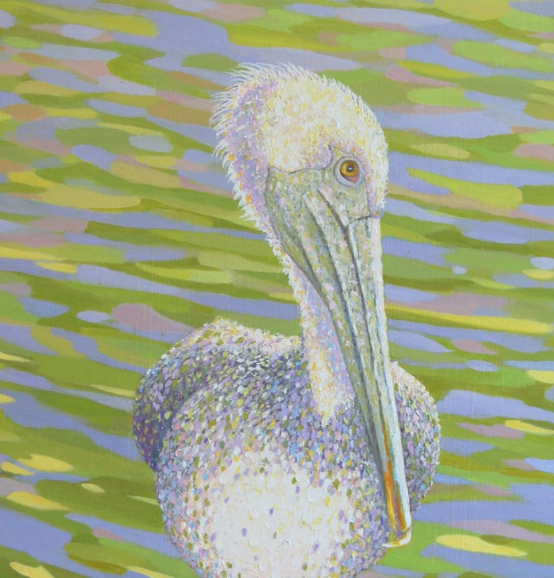 Pelican Perfectly Perched (detail shot) by William R. Beebe