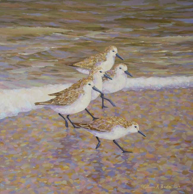 Me and My Peeps , 12 x 12, oil on board, by William R. Beebe, SOLD