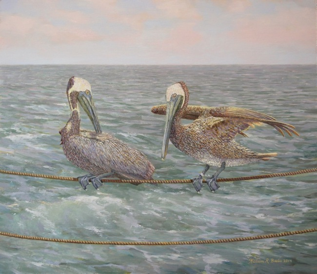 Balancing Act  by William R. Beebe, 12 x 14, oil on board, SOLD