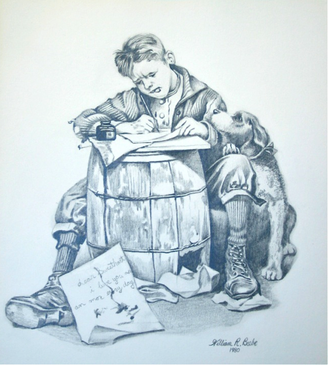 Pencil drawing by William R. Beebe, 1980   Inspired by Norman  blog post