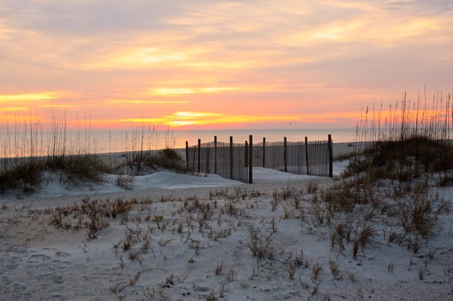 Amelia Island Beach at Sunrise