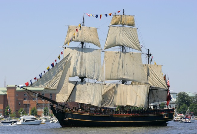 The HMS Bounty photographed by William R. Beebe June 2012
