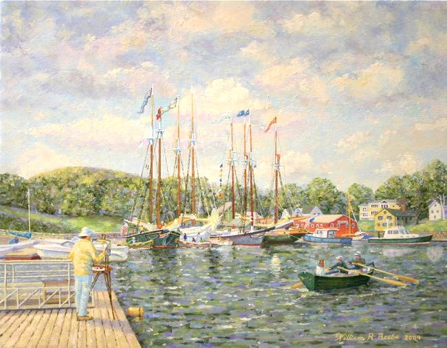 Capturing Camden's Fleet by William R. Beebe, 11 x 14, oil on canvas, $2250