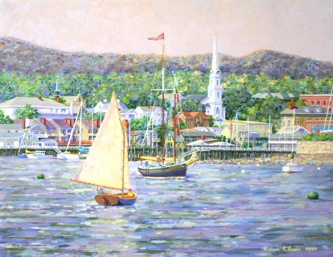 Out for a Sail by William R. Beebe, 11 x 14, oil on canvas, $2250