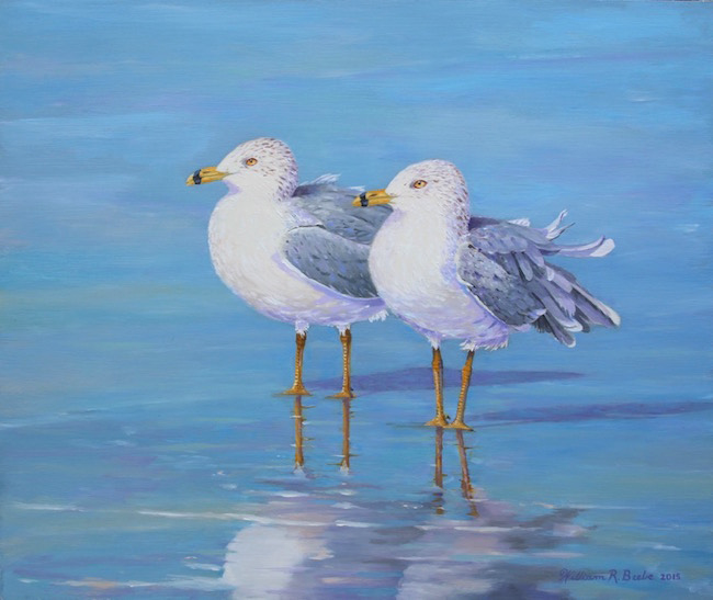 Side by Side  by William R. Beebe, 12 x 14, oil on board, $2300