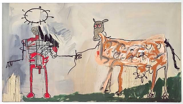 The Field Next to the Other Road by Jean-Michel Basquiat