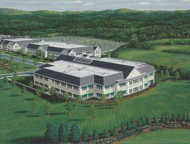 MBNA's Regional Center in Belfast Maine, painting by William R. Beebe