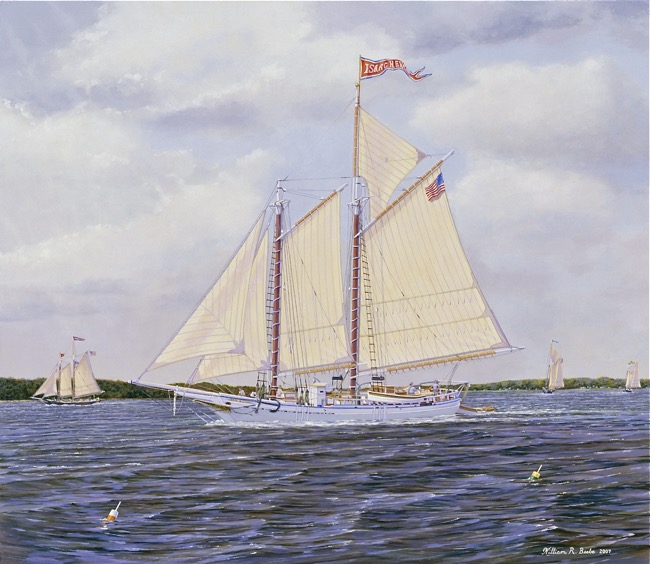 The Isaac H. Evans    by William R. Beebe, 24 x 28, oil on board, $9000