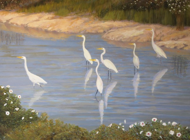 The Egrets and Mallows of Blackwater  , Work in Progress by William R. Beebe