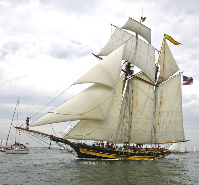 The Pride of Baltimore II  photographed by William R. Beebe