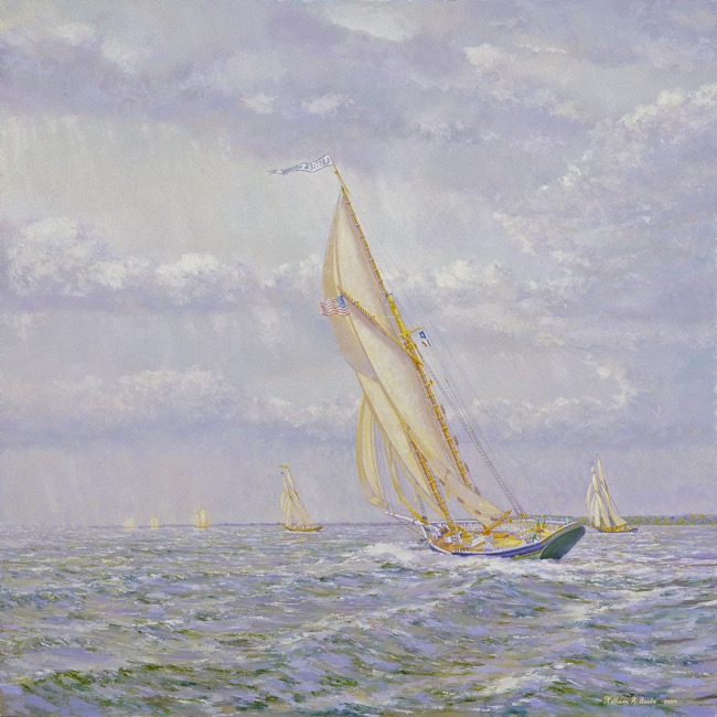 The Lettie G. Howard    by William R. Beebe, 24 x 24, oil on board, $7500