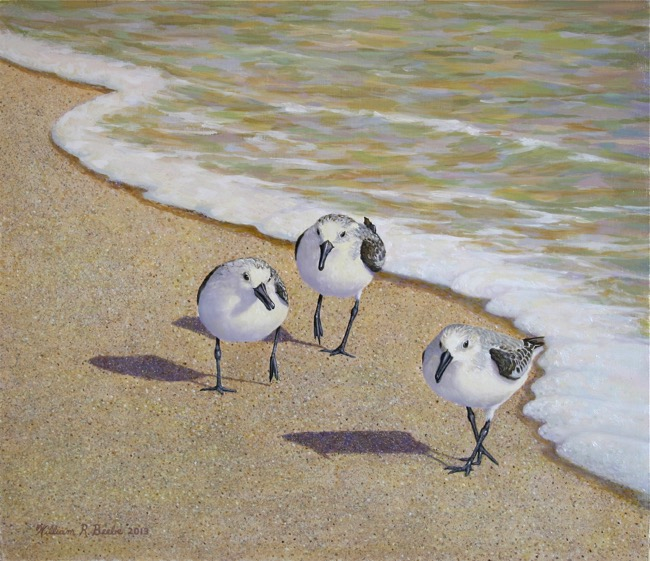 Beach Boys by William R. Beebe, 14 x 16, oil on board, SOLD