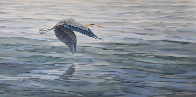 Blue Morning   by William R. Beebe, 24 x 48, oil on canvas, commissioned