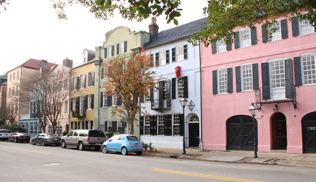 Rainbow Row in Downtown Charleston SC Photo by William R. Beebe