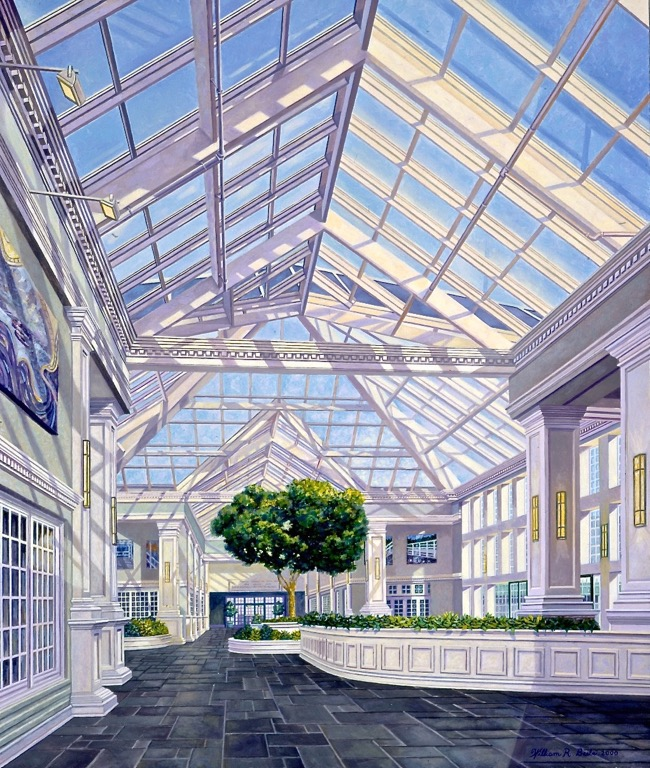 MBNA Belfast Office, painting by William R. Beebe