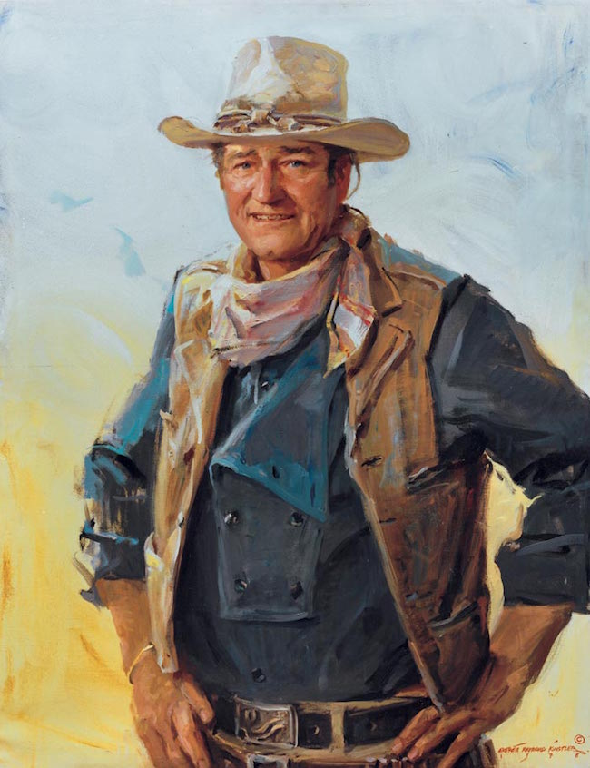 John Wayne portrait at the National Cowboy Hall of Fame