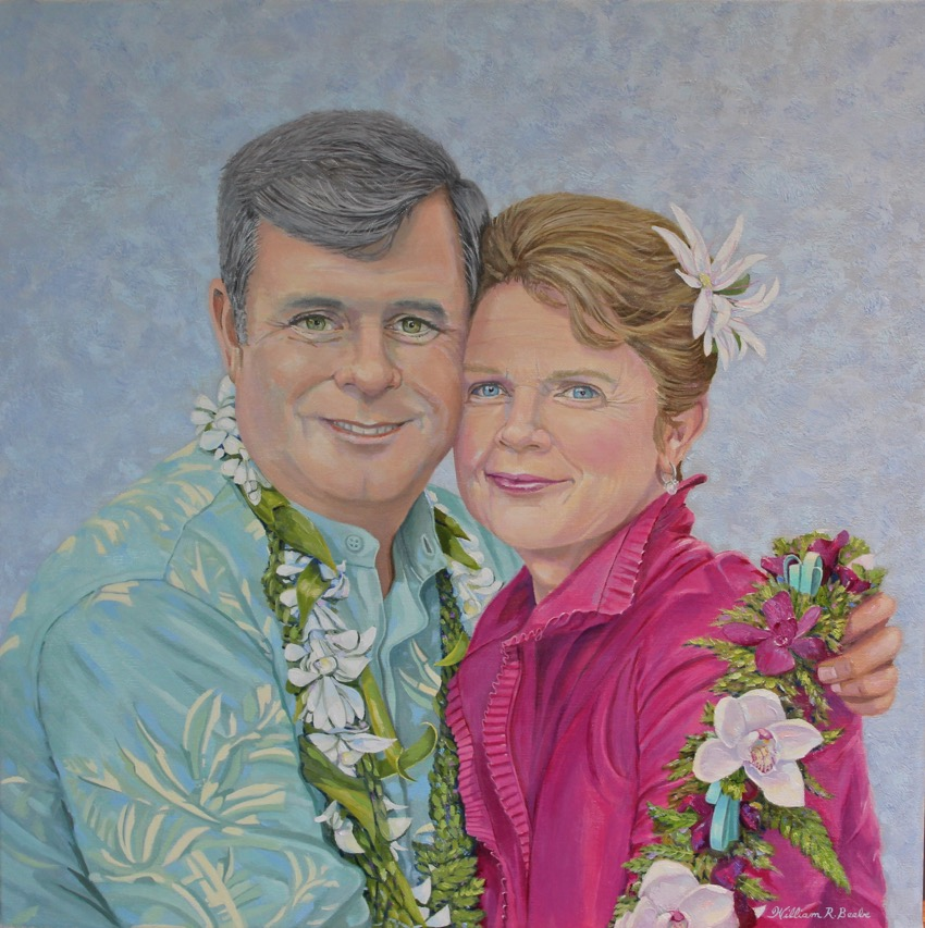 Commissioned portrait by William R. Beebe