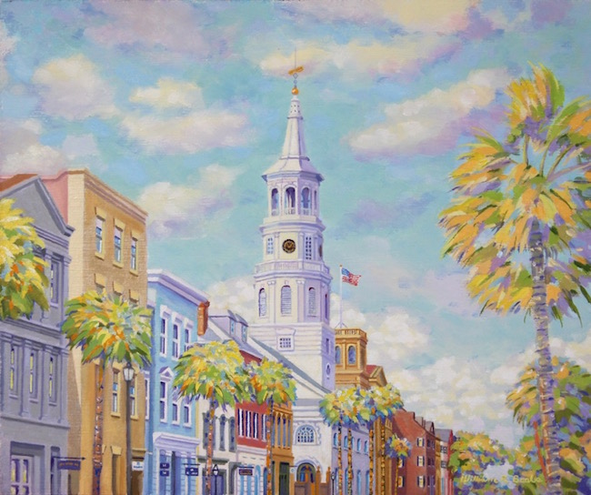 The Holy City by William R. Beebe, 10 x 12, oil on board, $1800
